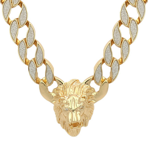 STARDUST CUBAN LION CHAIN