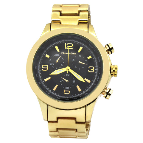 Gold Montres Carlo Metal Band Watch