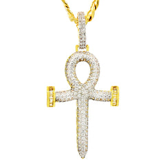 Ankh Nail PENDANT WITH CUBAN CHAIN