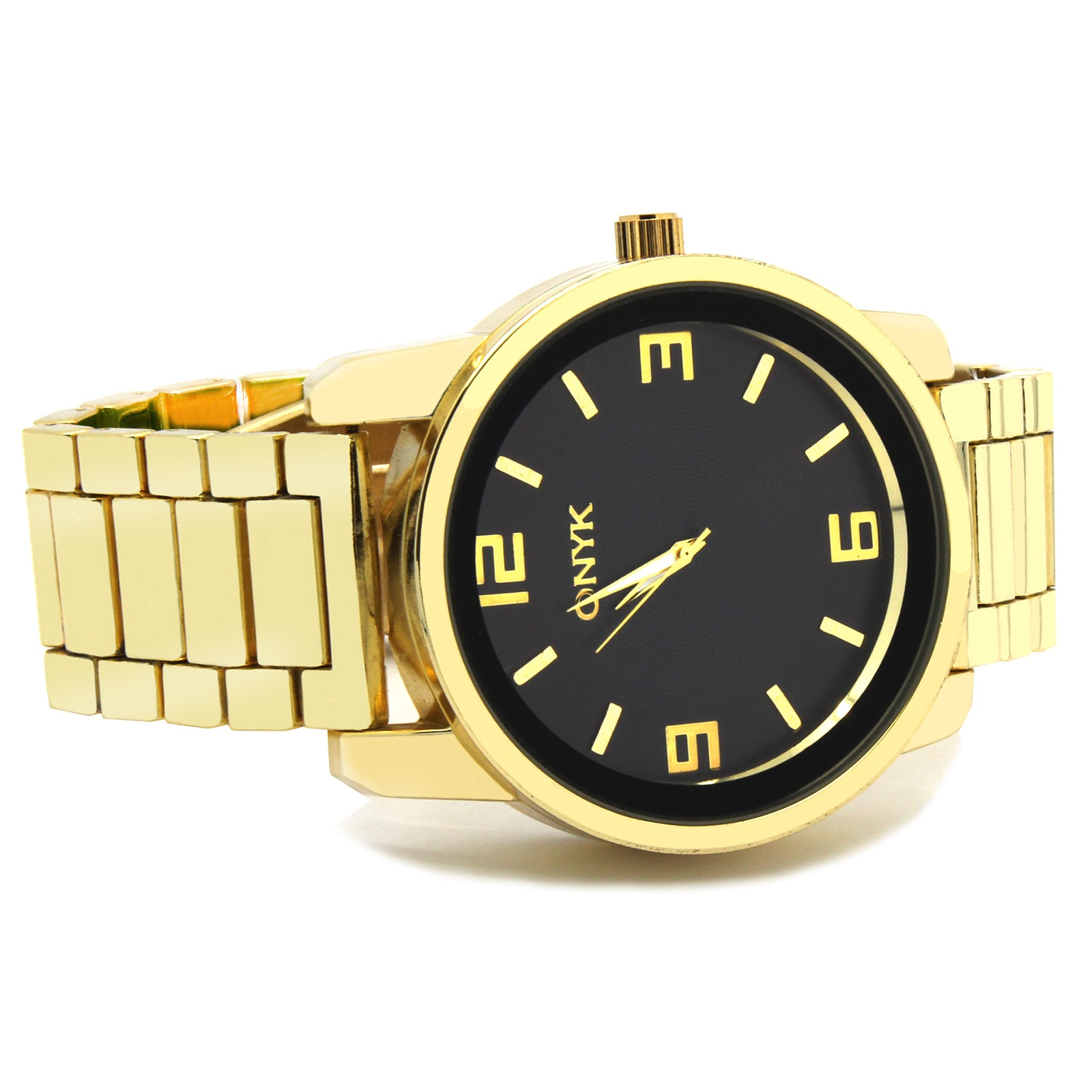 Gold ONYK B# Metal Band Watch