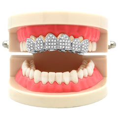 SILVER TOP GRILLZ FULL ICED OUT