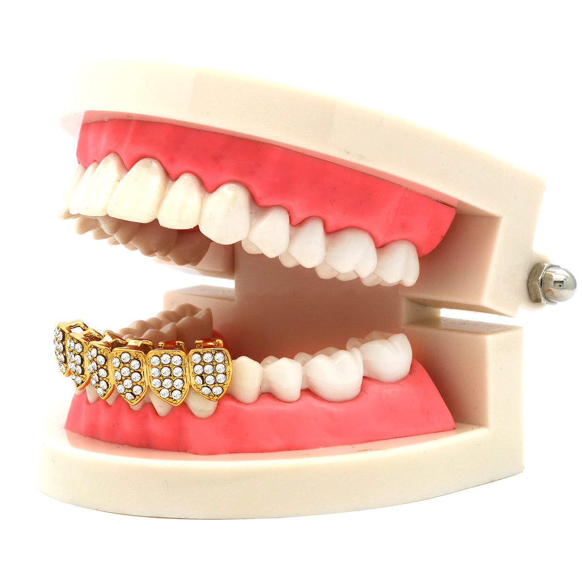 GOLD BOTTOM GRILLZ FULLY ICE OUT