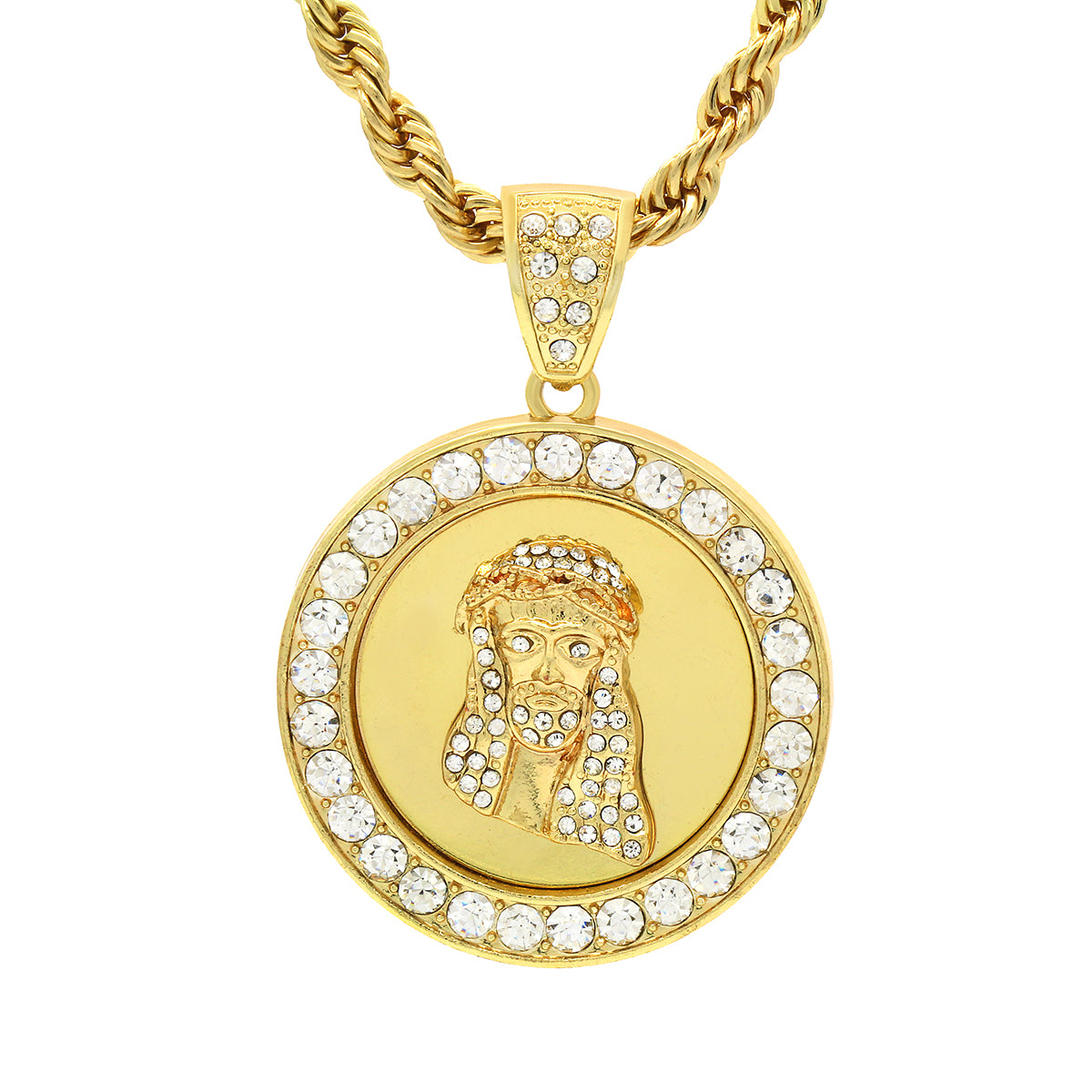 jesus h round today white watches diamond jewelry pendant luxurman overstock free product gold tdw shipping i