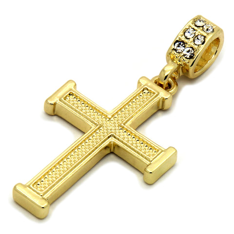 Staple Cross Pendant Necklace