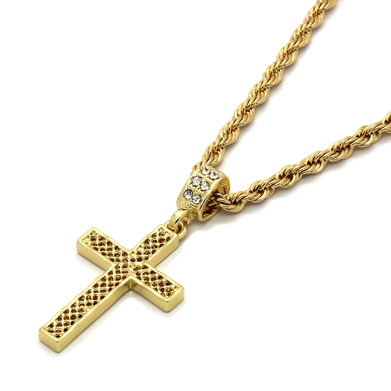Net Cross Pendant Necklace