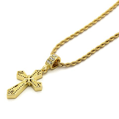 Net X Cross Pendant Necklace