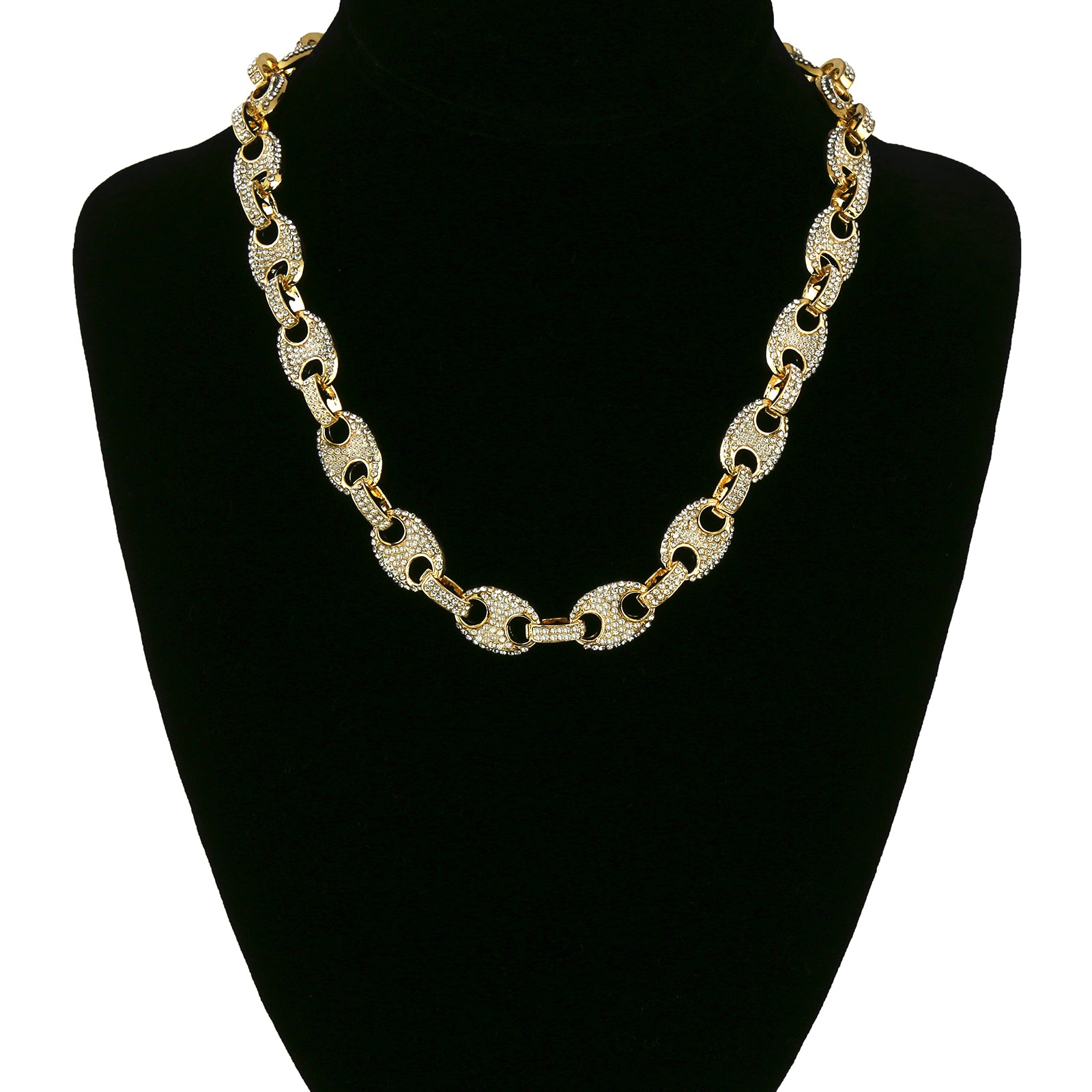 FULLY ICE OUT BYZANTINE CHAIN