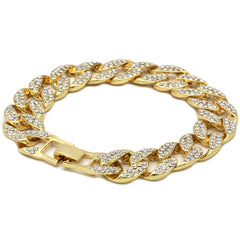 Cuban BRACELET Gold 15 mm 8.5""