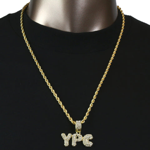 YPC Pendant with Gold Rope Chain
