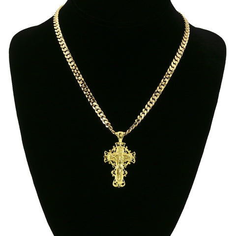 CROSS SPIRAL STRAIGHT PENDANT