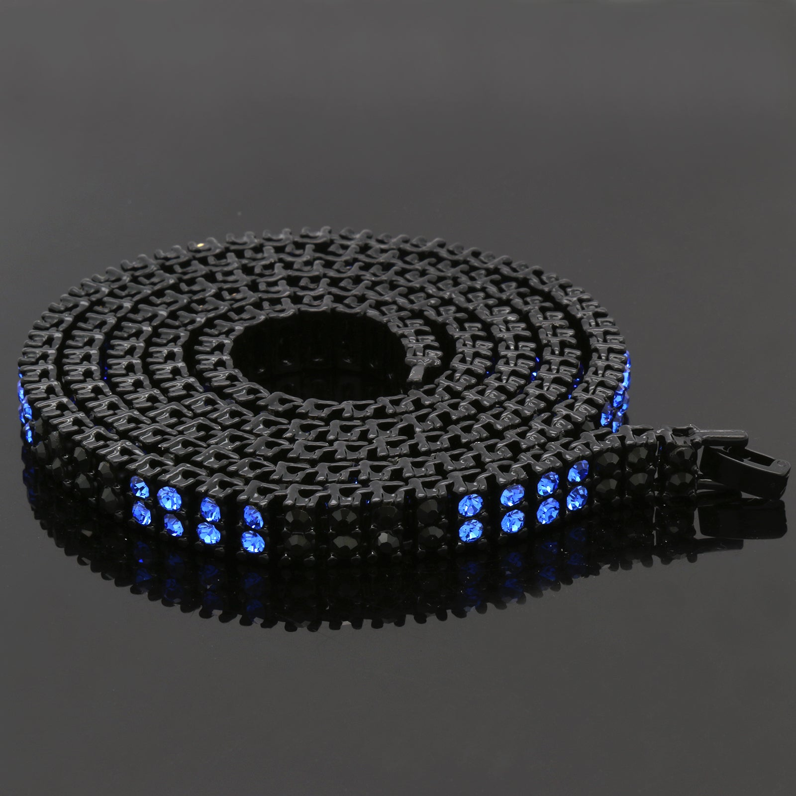 "BK/BLUE 2 ROW 30"" TENNIS CHAIN"