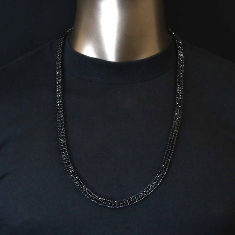 "BLACK 2 ROW 30"" TENNIS CHAIN"