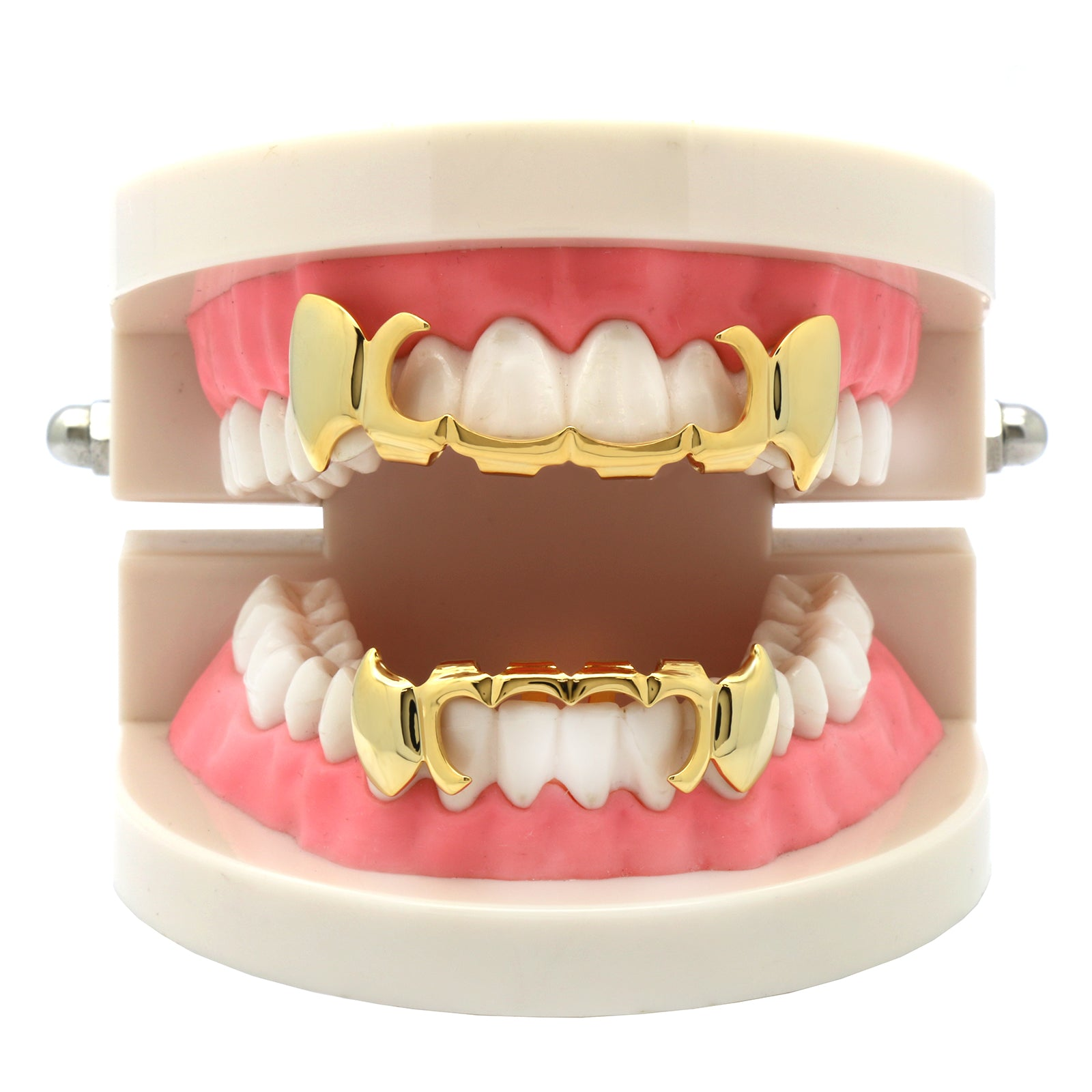 GRILLZ SET GOLD SICKLE PLAIN FANG
