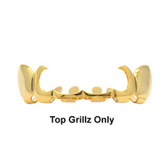 GRILLZ SET GOLD SICKLE PLAIN