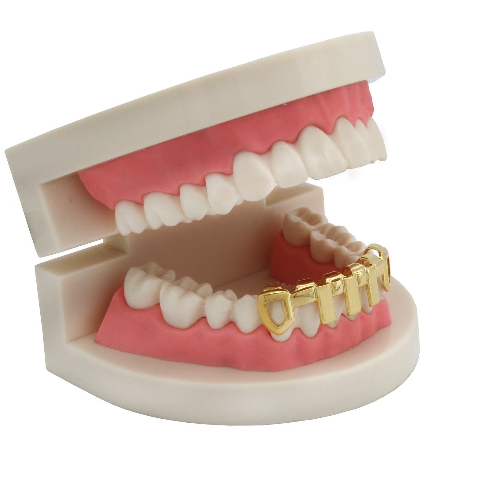 GOLD BOTTOM GRILLZ VERTICAL BARS