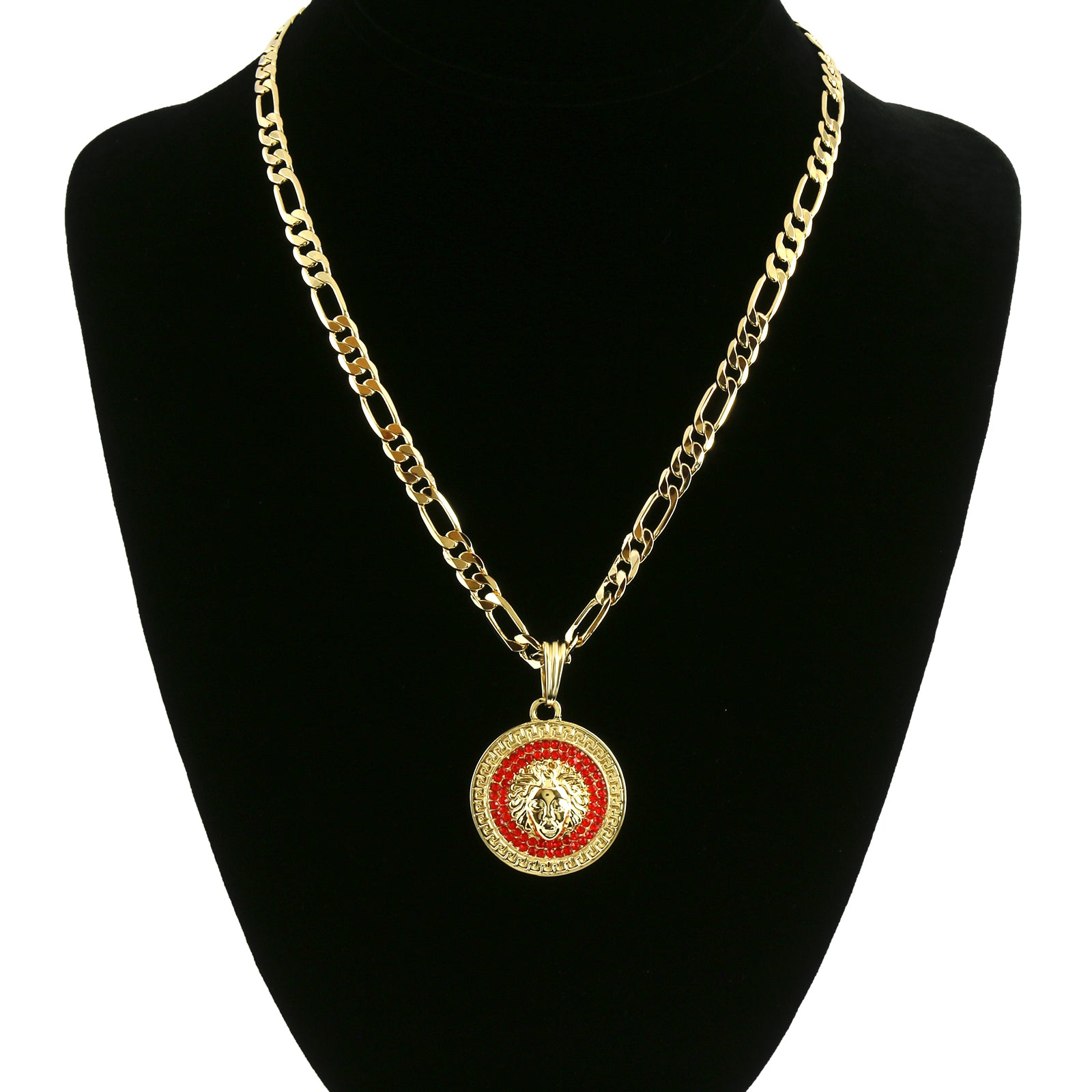 MEDUSA COIN PENDANT RED