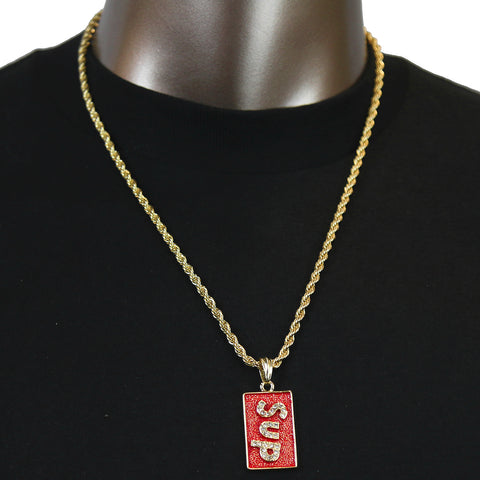 SUPREME Pendant with Gold Rope Chain