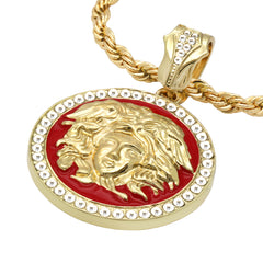 MEDUSA PENDANT MEDALLION Red
