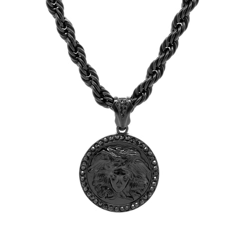 MEDUSA PENDANT MEDALLION Black