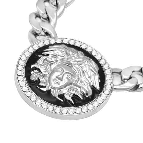 MEDUSA NECKLACE SILVER BLACK