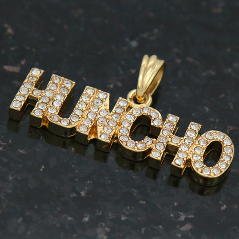 HUNCHO THE BOSS  Pendant with Gold Rope Chain