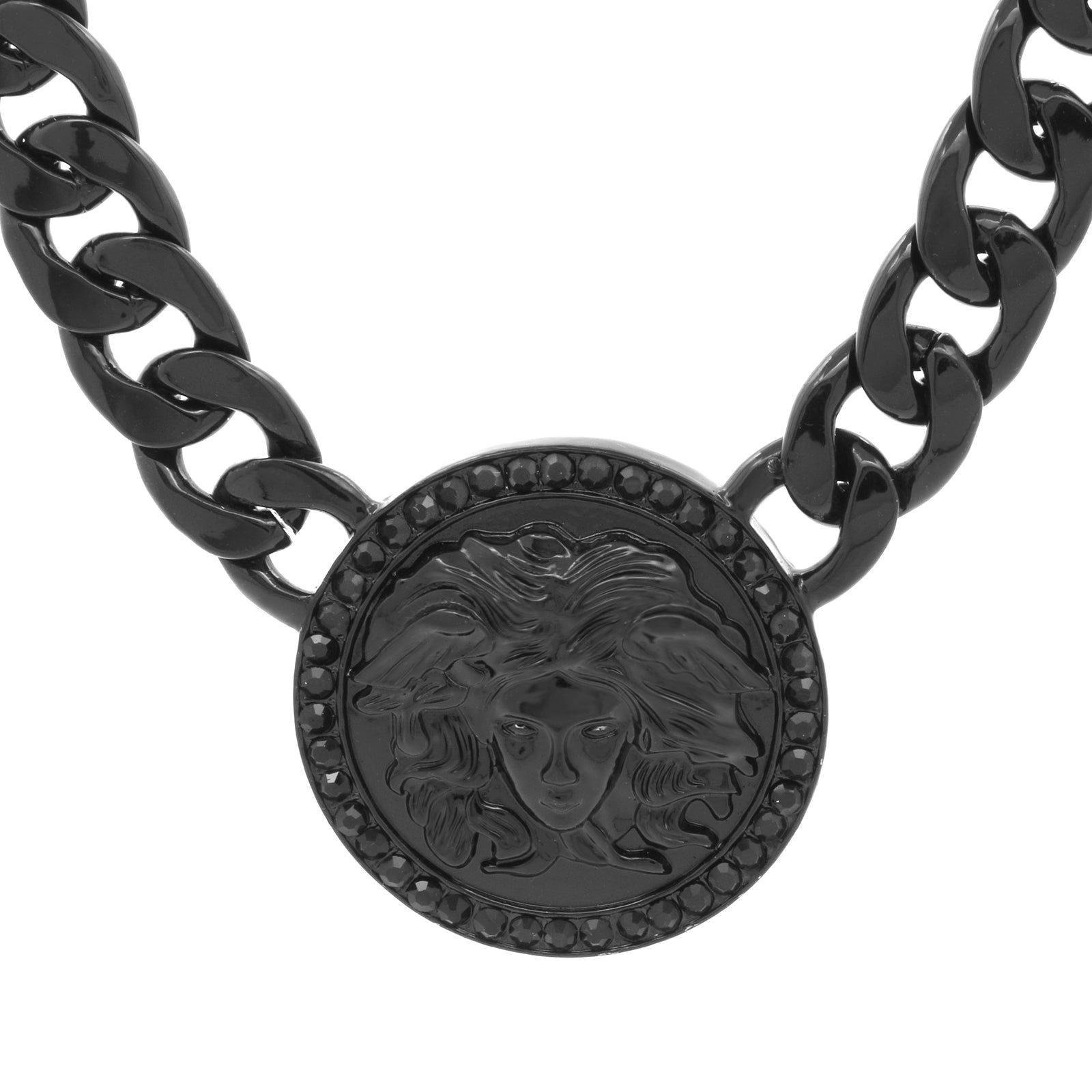 MEDUSA PENDANT MEDALLION CUBAN Black