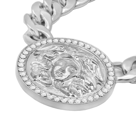 MEDUSA NECKLACE SILVER