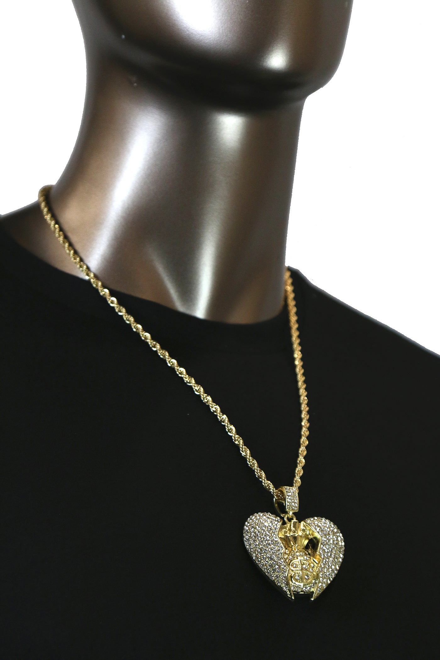 GOLD Broken Heart Money Bag