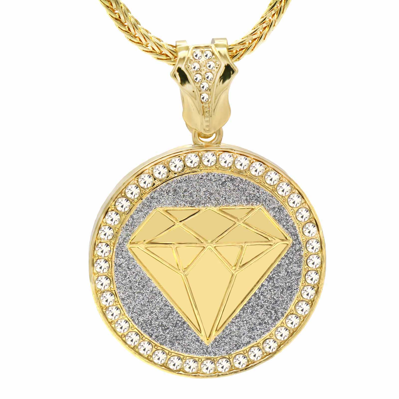 Gold Silver Diamond NECKLACE