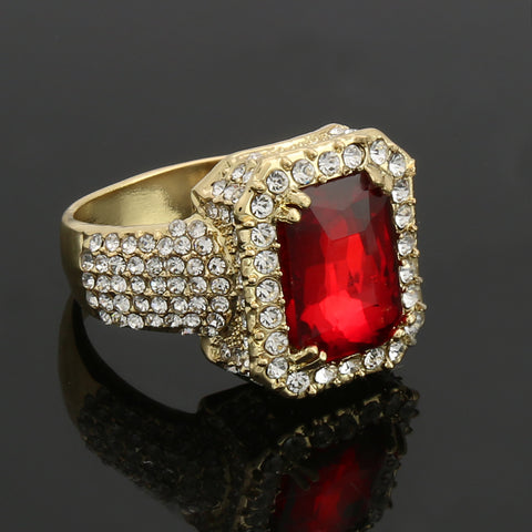 GOLD RED Ruby