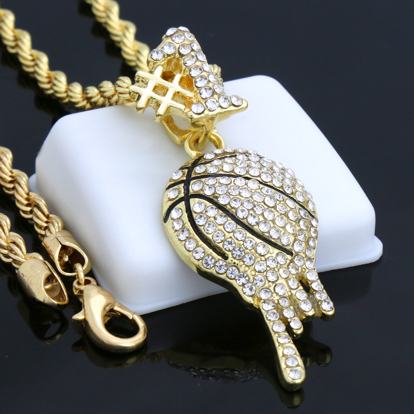 GOLD DRIP BASKETBALL #1 ICE OUT