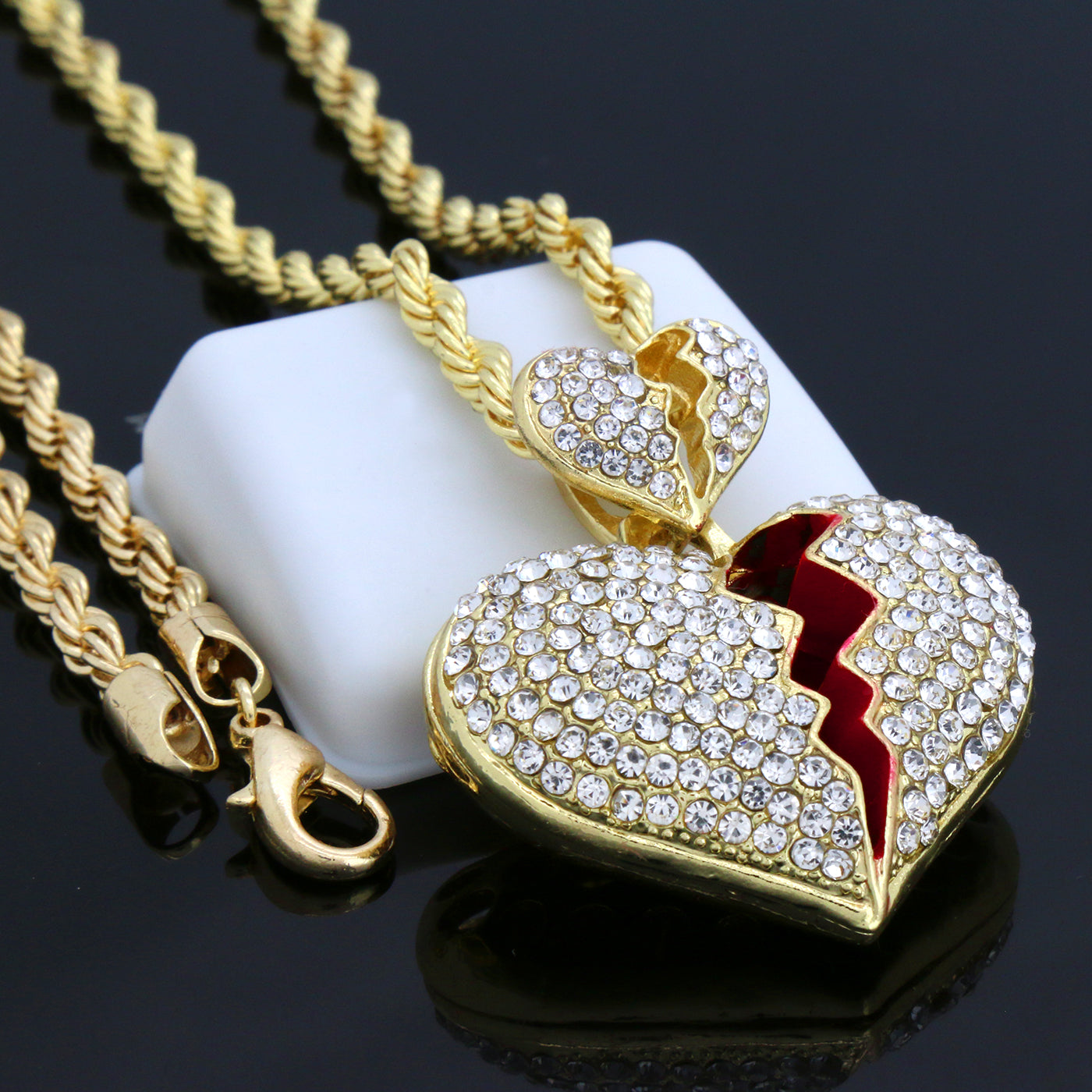 GOLD DOUBLE MONEY BAG ICE OUT