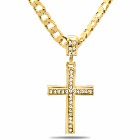 The Cz Cross Necklace 8
