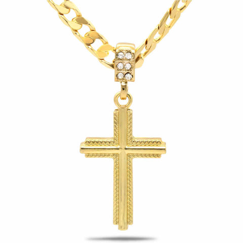 The  Braid Edge Cross Necklace