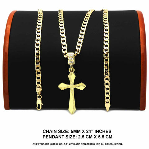 The  Waved Edge Cross Necklace 13