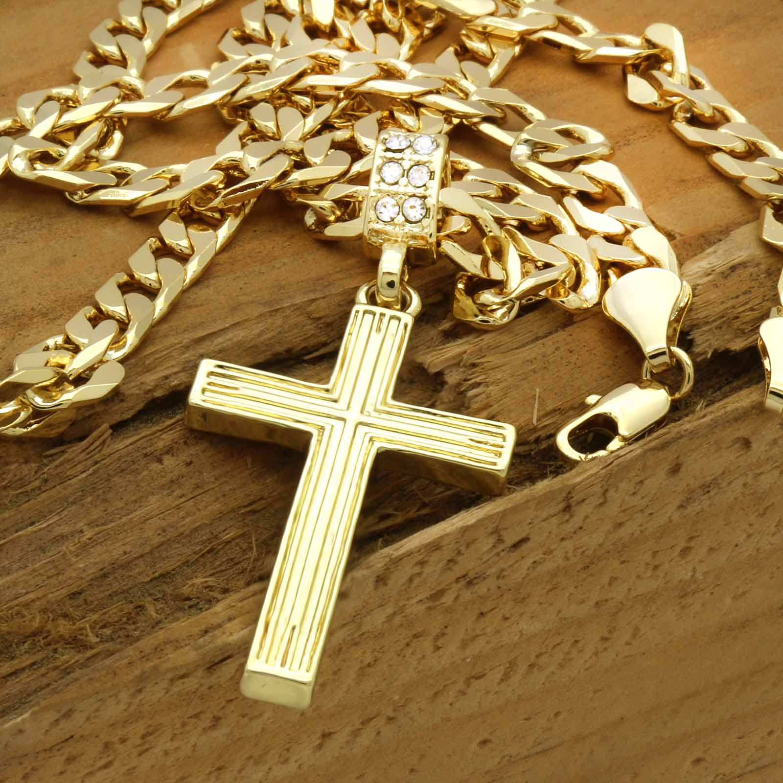 The Line Cross Necklace 14