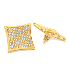 Screw Back Gold Cz 13 Row Kite