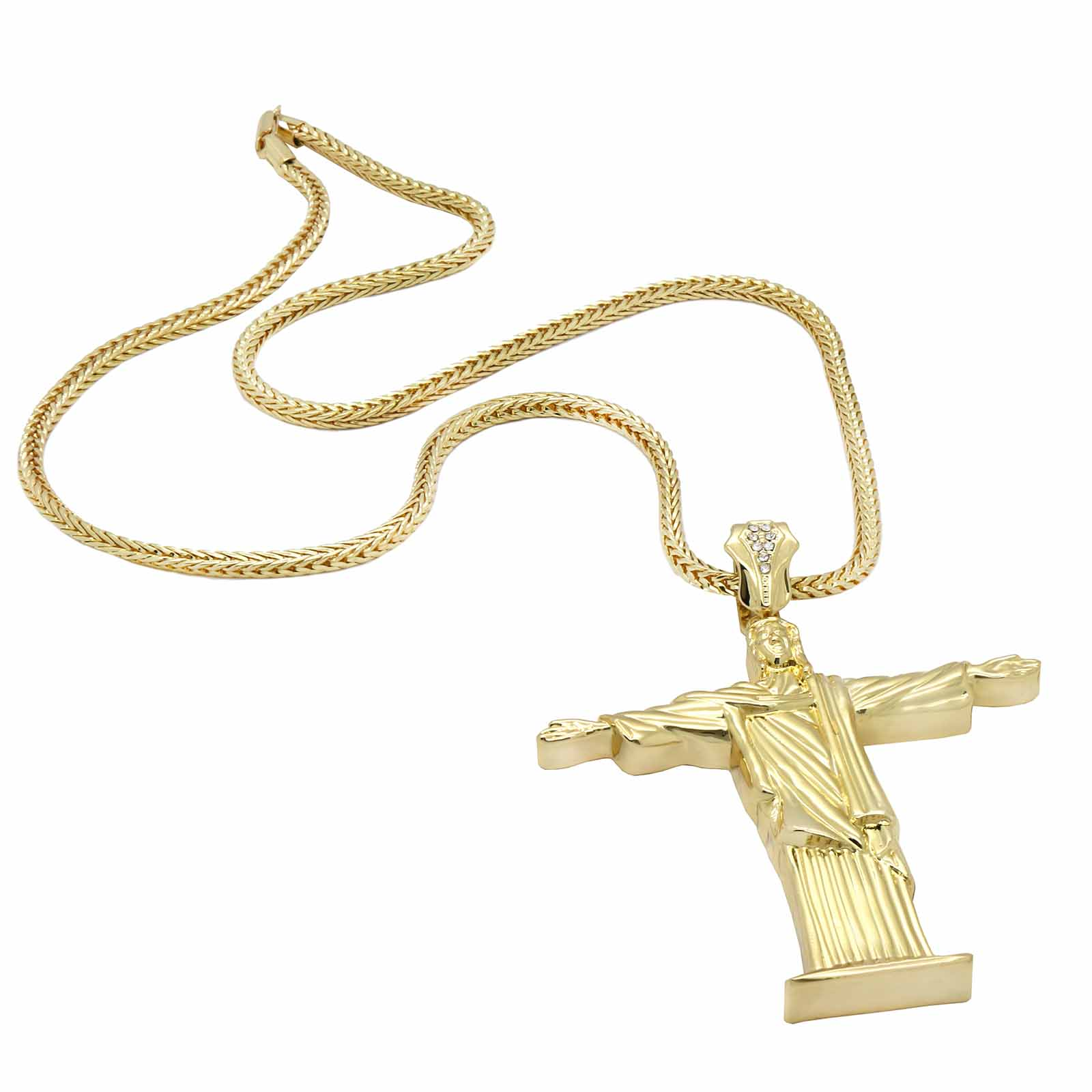 Gold RESURRECTION CROSS NECKLACE A