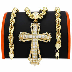 Gold Hollow Cross NECKLACE