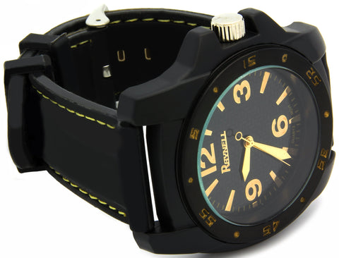 Black Silicone Band Watch