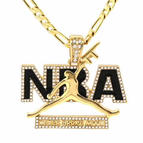The Never Broke Again Necklace Black