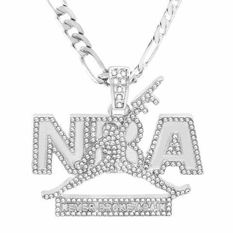 The Never Broke Again Necklace S2 Fully Iced Out