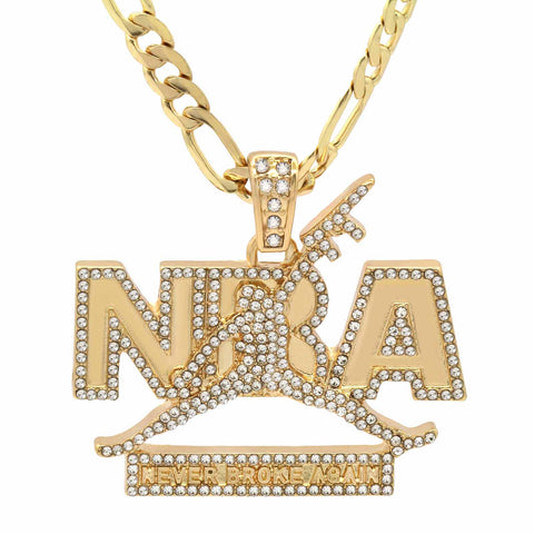 The Never Broke Again Necklace 2 Fully Iced Out