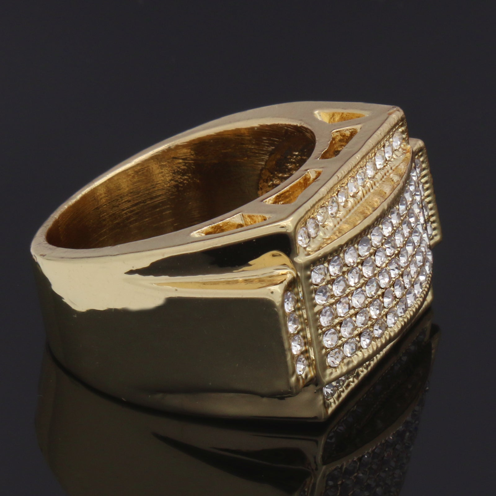 GOLD RECTANGLE DOME CZ