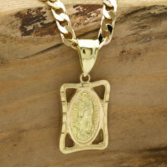GUADALUPE SQUARE PENDANT NECKLACE