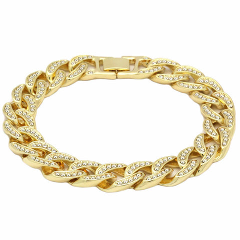 Cuban BRACELET Gold 13 mm 8.5""