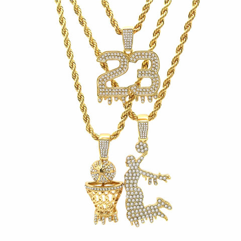 3 BASKET 23 JUMPMAN CHAIN PENDANT