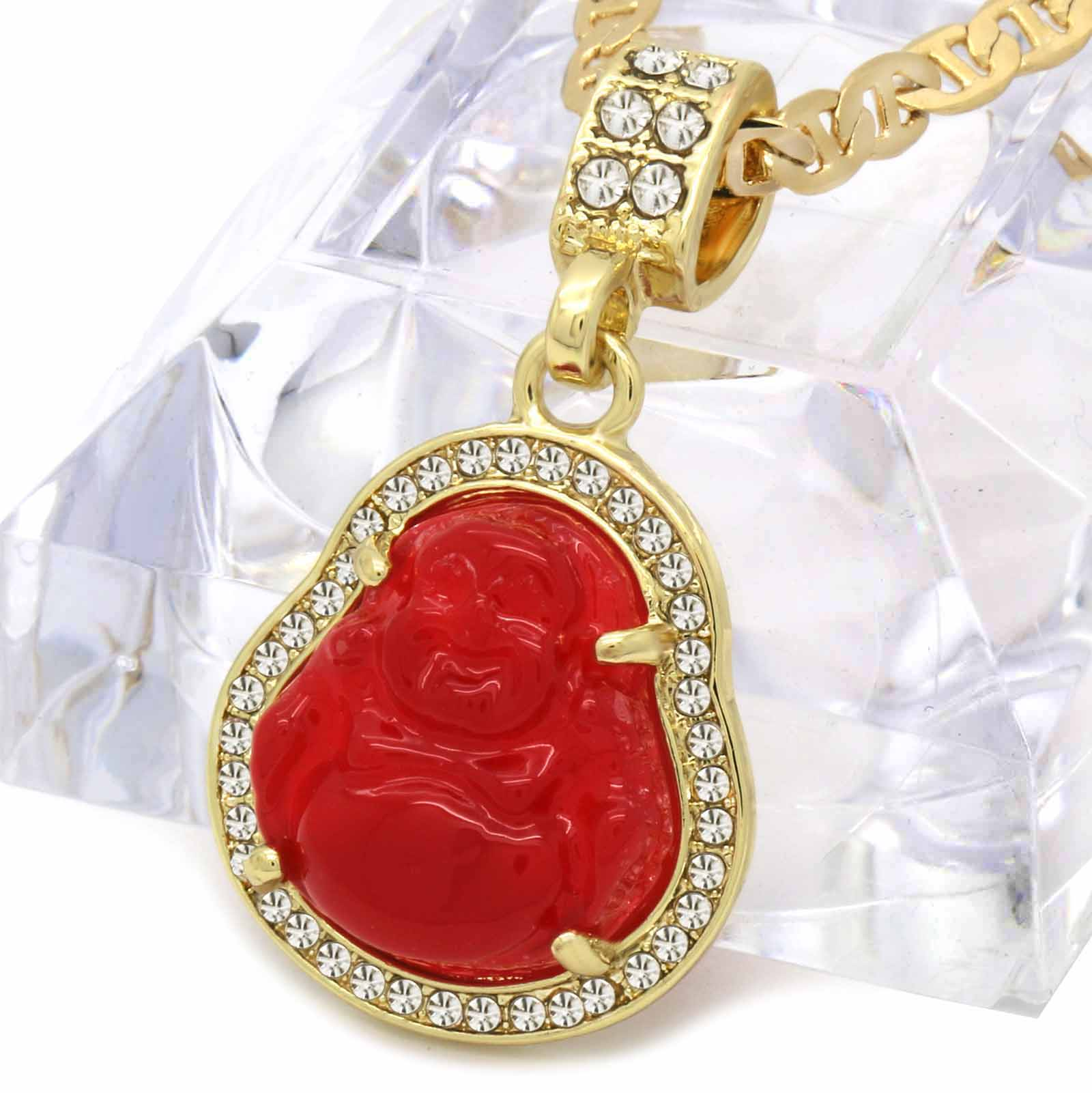 BUDDHA PENDANT ON GUCCI CHAIN