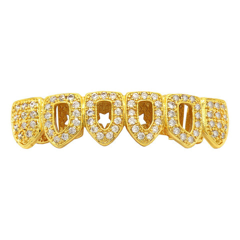 GOLD BOTTOM GRILLZ CZ 4 OPEN