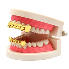 GRILLZ SET GOLD CUBAN PLAIN